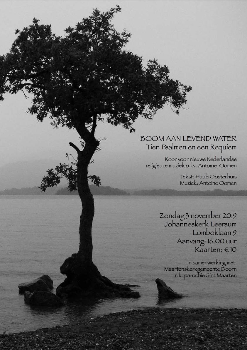 Muzikale middag: 'Boom aan levend water'