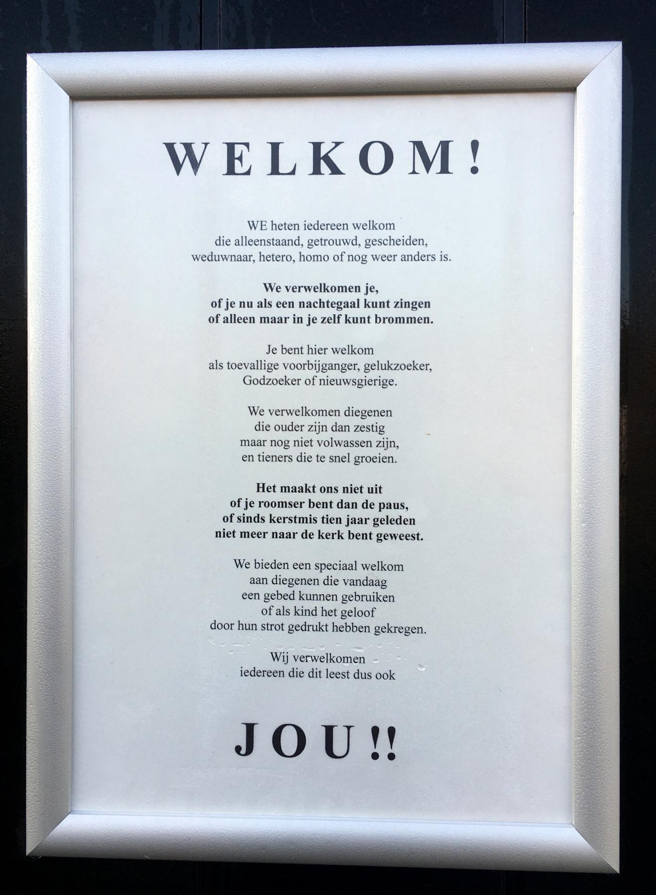 WELKOM in de Andries!