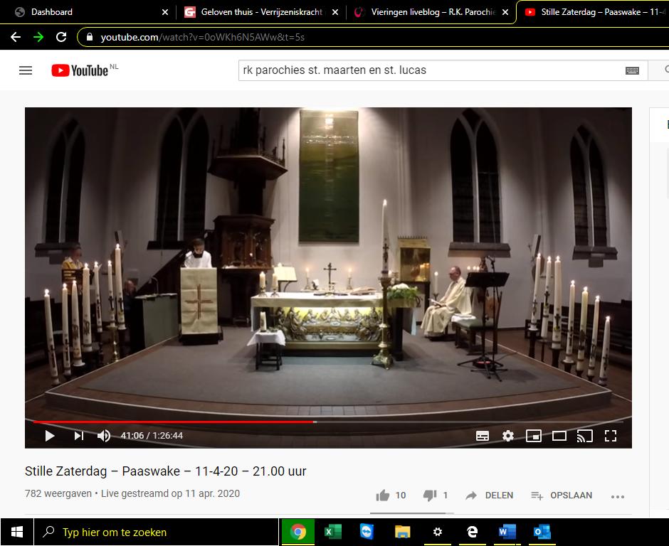 Vier online met ons mee. Waar vind ik de vieringen op YouTube en de liturgieboekjes?